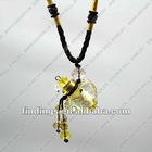 Heart Lampwork Glass Pendant Necklace