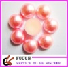half round plastic pearl bead