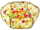 pop up hexagon kid indoor play tent with balls
