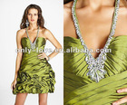 2012 short halter neck V-neckline cocktail party dresses OLC088