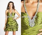 2012 short halter neck V-neckline cocktail party dresses OLC088