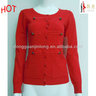 2012 red women cardigan winter sweater