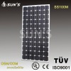 Monocrystalline Solar Panel 100W With TUV/IEC Certification