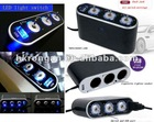 3 Way Car Cigarette Lighter Socket with USB Charger Adapter for ipod, MP3/4, PDA,phone