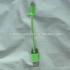 Short Travel Micro USB To USB Data charger sync Cable for s2 s3 Moto EVO green