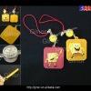 led flash pvc mobile strap
