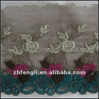 Fashion garment embroidery lace