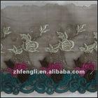 Fashion garment embroidery lace