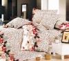 100%Cotton Reactive Printed colorful home textile 4pcs Bedding Set