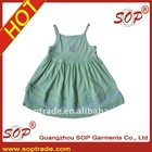 2012 latest 95% cotton knitted baby girl dress