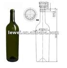 HT1030 750ml glass wine bottles wholesale