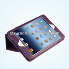 new design book leather case for ipad mini pc case