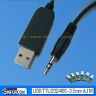 USB to 3.5mm AJ serial cable, fresh cable, upgrade cable, pl2303/cp2102/ft232