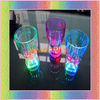 led glass with multicolor led light 350ml press on off switch