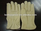 Cow grain driver leather glove with sweater cloth liner