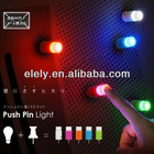 LED push pin light with sucker