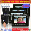 Wholesales 9 inch touch key handsfree LCD color wired video apartment intercom,connecting DVR
