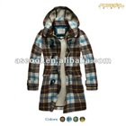 Women Checked Duffle Coat