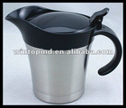 Stainless steel Gravy Boat with plastic spout