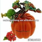 metal alloy decor artificial pumpkin