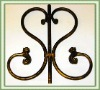 Wrought iron window decor