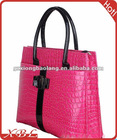 fashion ladies imitation crocodile PU leather handbags bags 2012 new design