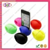 2012 mini silicone egg shaped speaker for Iphone