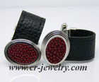 Leather Cuff links