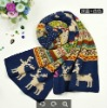 Unisex 2012 New Deer Design Christmas Acrylic Knitted Winter Scarf