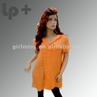 2012 ladies' new fashion loose body with hood casual blouse