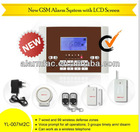 self monitoring wireless gsm alarm system with door contact (YL007M2C)