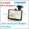 "New 4.3"" 4GB Memeory Win CE 6.0 MTK 468Mhz Car GPS Navigation In Original Box"