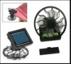 hot sale Mini Solar fan with clip and battery