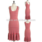 New charming red dot ladies party dress