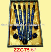 chopsticks gift set with silk cover