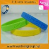 Custom logo debossed silicone bracelet