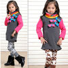 2013 brand Fashion collar t-shirts for kids girls