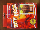 red convenient instant heat pack with box