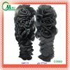 Popular chiffon and satin flower appliques design for evening dress garment, sweet garment patch - C0589