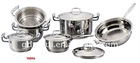 YH096-10 Pcs Stainless Steel Cookware Set