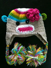 baby cute animal crochet monkey hats