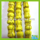 yellow bamboo turquoise bead hot sale