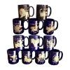 Cobalt Blue Ceramic Mug with Zodiac Decal for Promotion