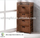 Elegant Paper Rope Living Room Drawer Cabinet