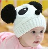 FASHION BABIES CAPS Dobby Knitted New Panda Design