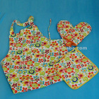 100% Cotton Printed Kitchen Cute Promotional Aprons Wholesale with Pocket