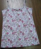 high quality cotton kids singlets with full print