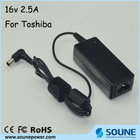 For Toshiba 16V 2.5A AC Adapter