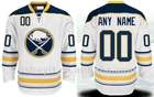 Free Shipping Sabres Jerseys # 00 Custom Away White Authentic Jerseys Mix Order Wholesale