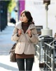 ladies fashion fitted casual winter coat